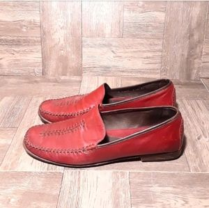 Cole Haan stitched leather loafers
